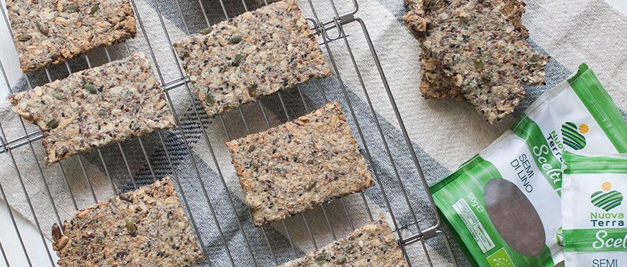 Crackers integrali ai semi oleosi