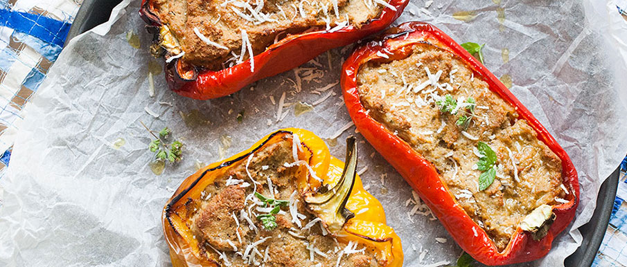 Ricetta dei peperoni ripieni di tonno cotti al forno
