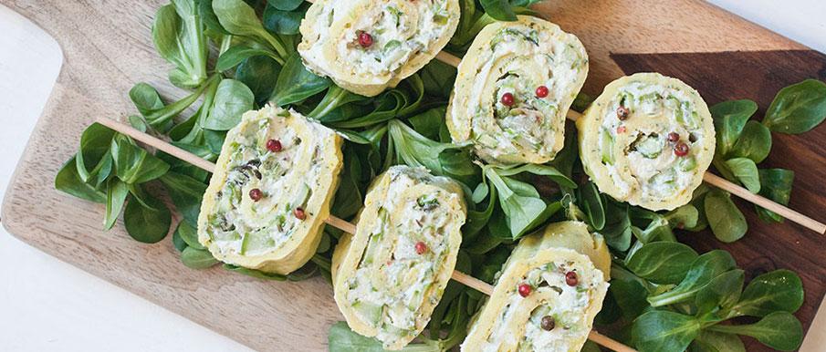 Rotolo di frittata agli asparagi e ricotta