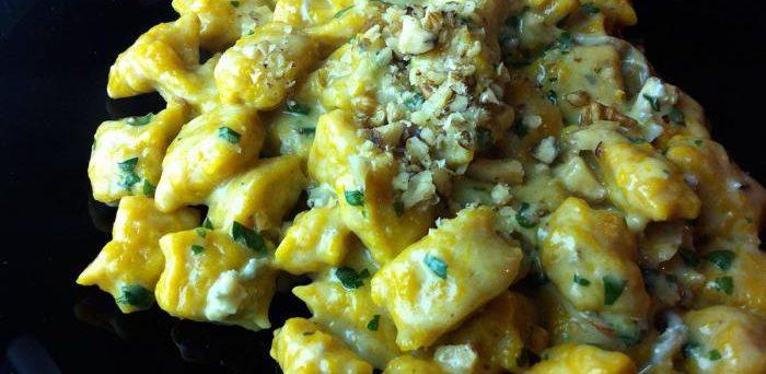 Ricetta gnocchi di zucca al gorgonzola e noci