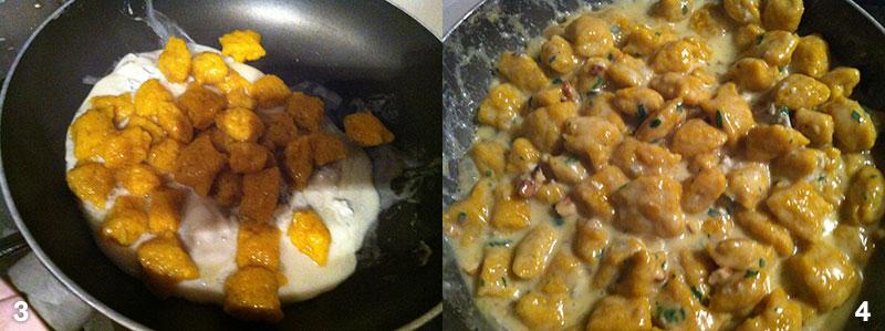 Gnocchi di zucca al gorgonzola e noci, la preparazione della ricetta
