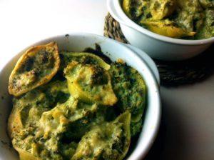 conchiglioni ripieni con broccoli e salsiccia