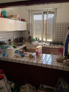 Catastrofe, una cucina ancora da sistemare!