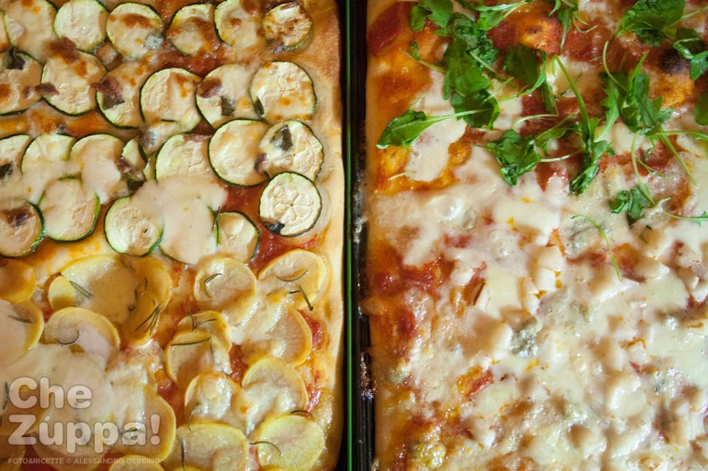 Pizza con lievito madre e impasto alle patate.