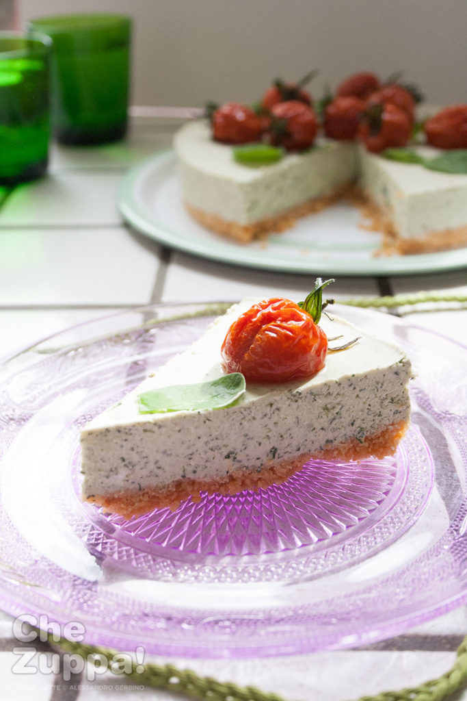 Cheesecake salato alle erbe aromatiche senza cottura