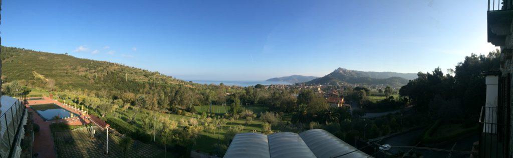 La vista sul golfo di Castellabate dalla camera dell'Hotel Hermitage