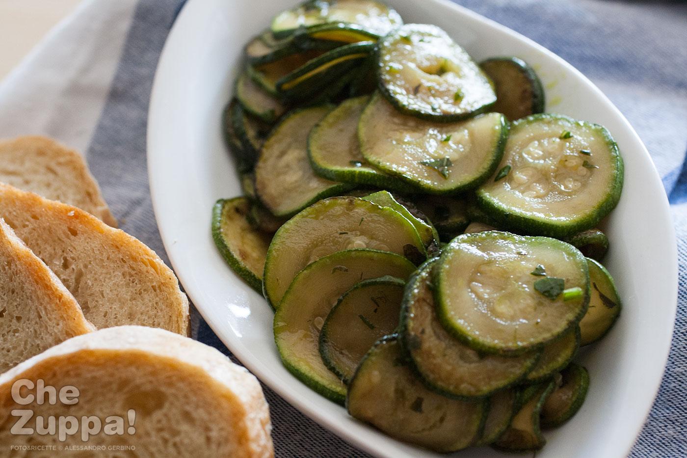 ricetta zucchine in agrodolce