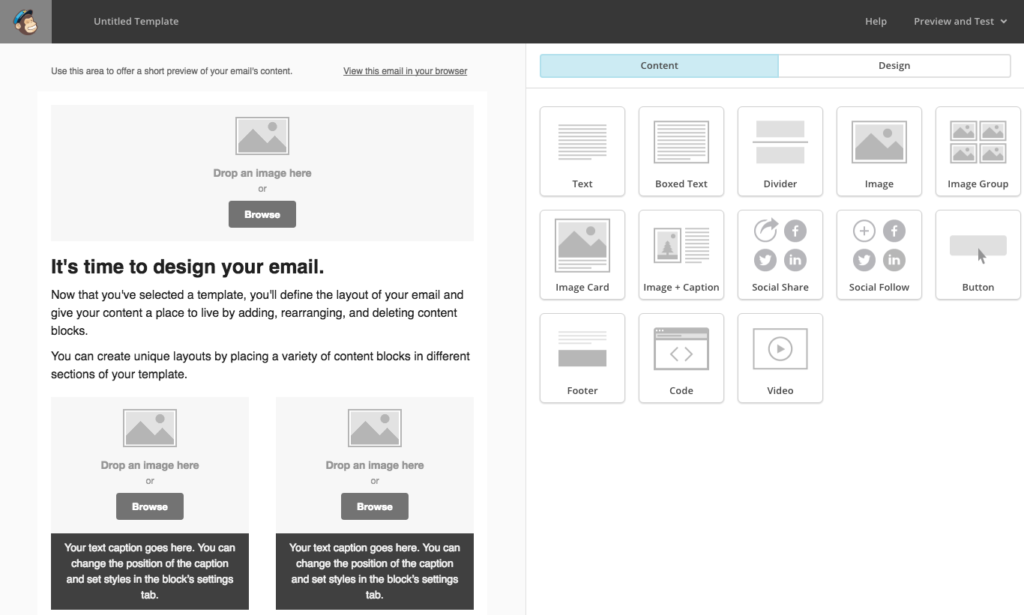 Tutorial come creare un template su mailchimp