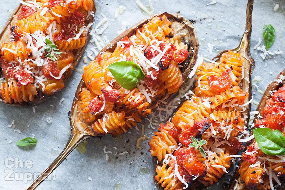 Ricetta melanzane ripiene di pasta chezuppa chezuppa for Ricette alta cucina italiana