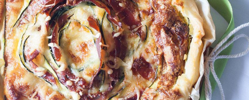 Ricetta quiche zucchine e speck