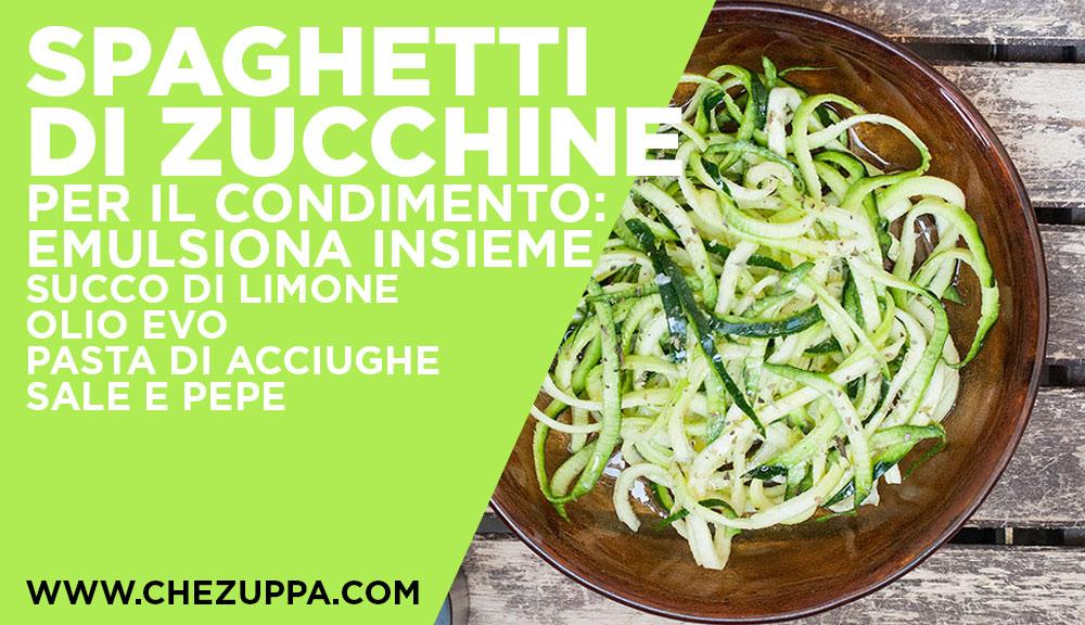 Come condire gli spaghetti di verdure