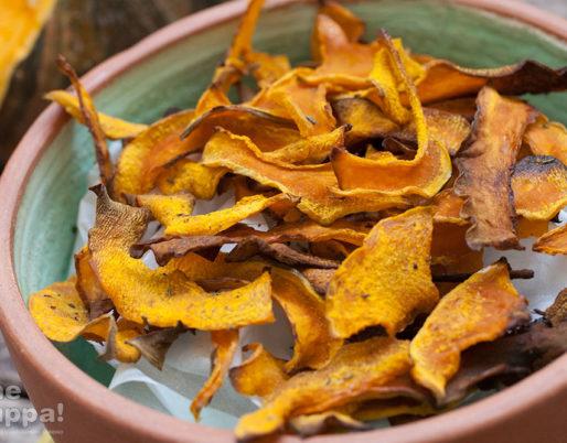 Chips di zucca al forno, ricetta