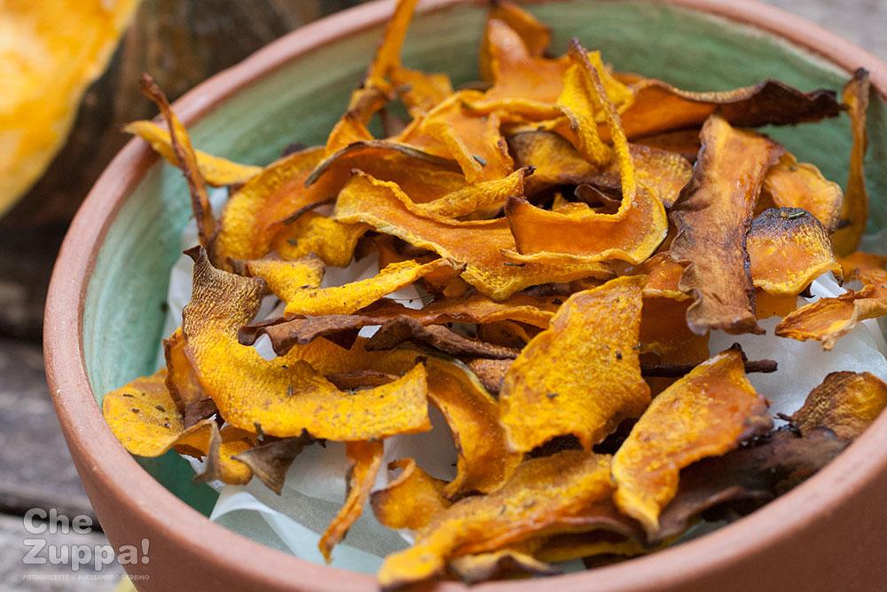 wholesale dealer 148c2 c5c5f Chips di zucca al forno