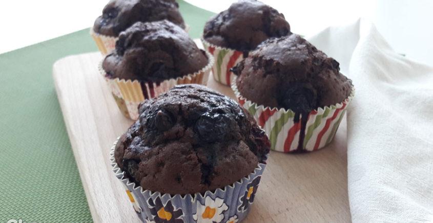 Muffin cioccolato e mirtilli