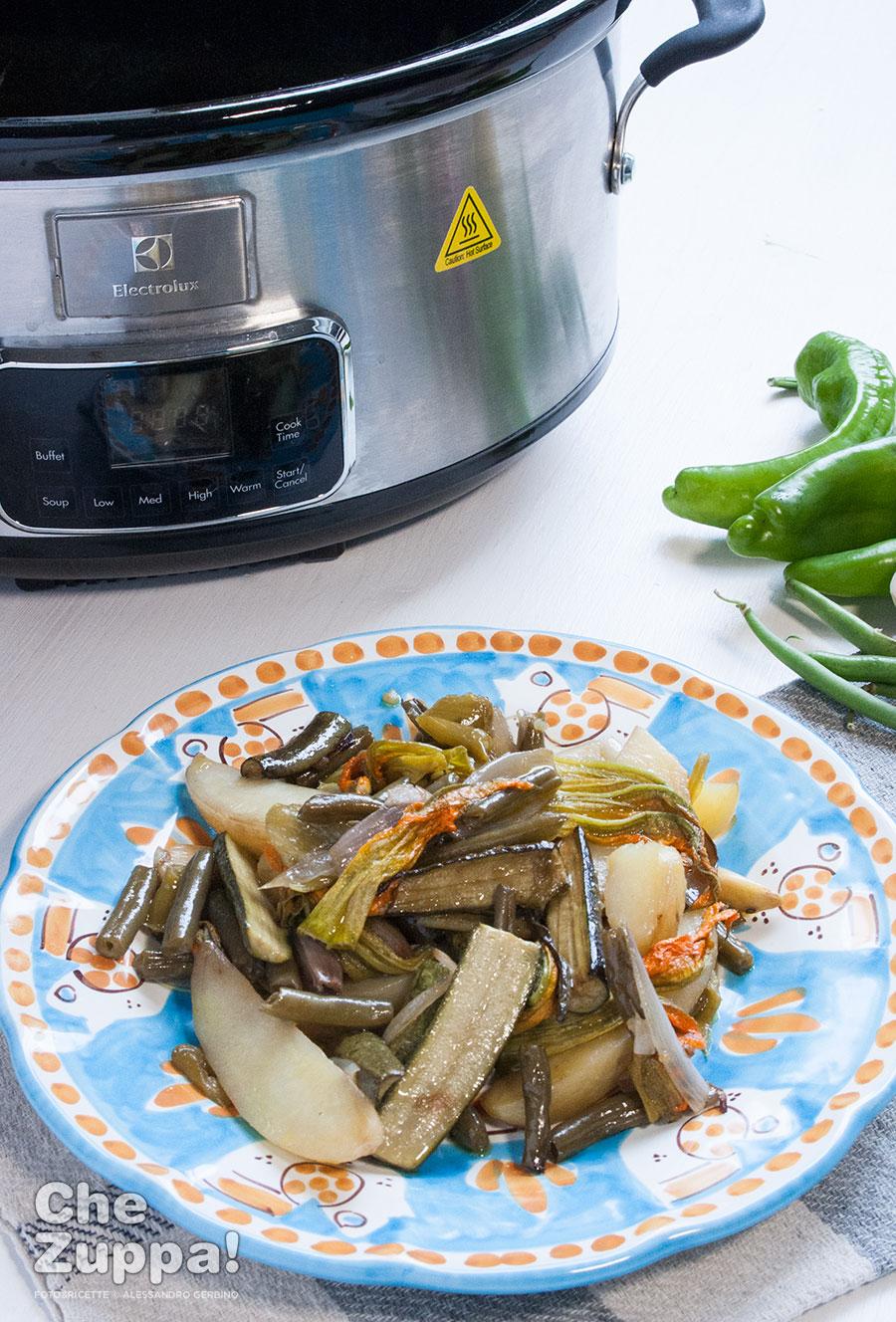 Ciambotta cilentana con Slow Cooker Electrolux