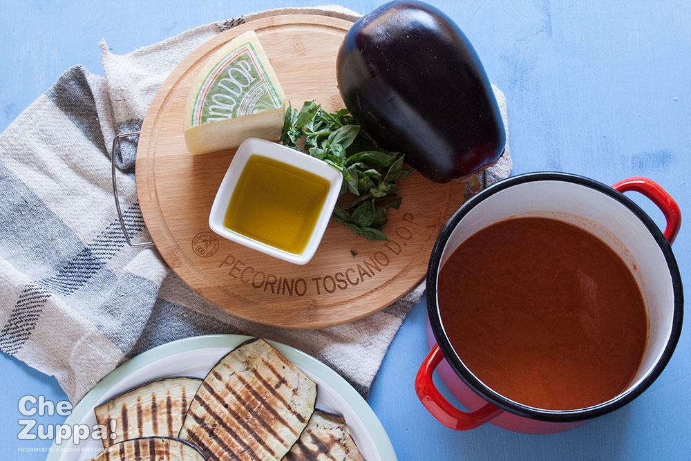 Involtini di melanzane con pecorino toscano dop