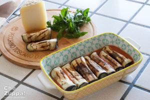 Involtini di melanzane e pecorino toscano dop