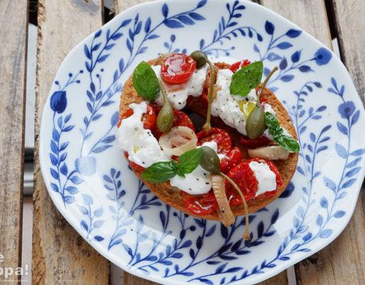 Frisella pomodorini e scalogno confit - ricette estate