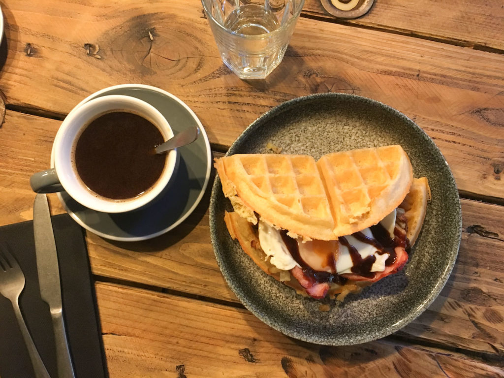 colazione inglese - waffles