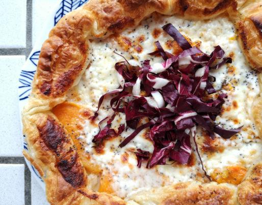 Torta salata zucca e scquacquerone - ricette al microonde