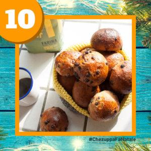 10 dicembre - panini ciocco cocco con lievito madre