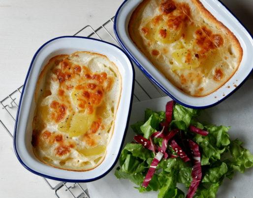 Provola e patate gratinate al forno
