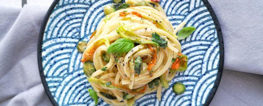 spaghetti con alici e fiori di zucca - alessandro gerbino - Chezuppa - Milano