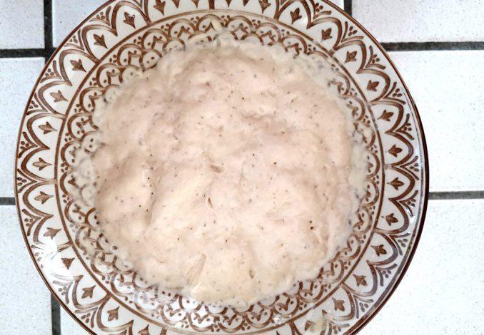 Il lievitino dopo 8 ore di riposo per il pane super lievitato