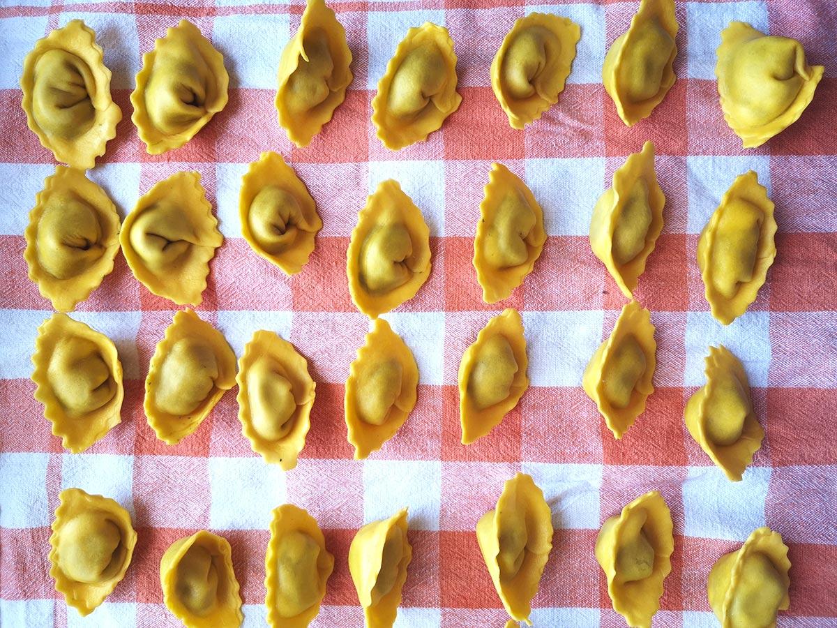 come sbianchire la pasta fresca ripiena