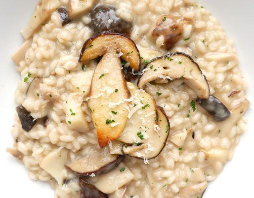 Classico primo piatto autunnale con tutto il buono dei funghi freschi. Scopri la bontà del risotto ai funghi porcini.