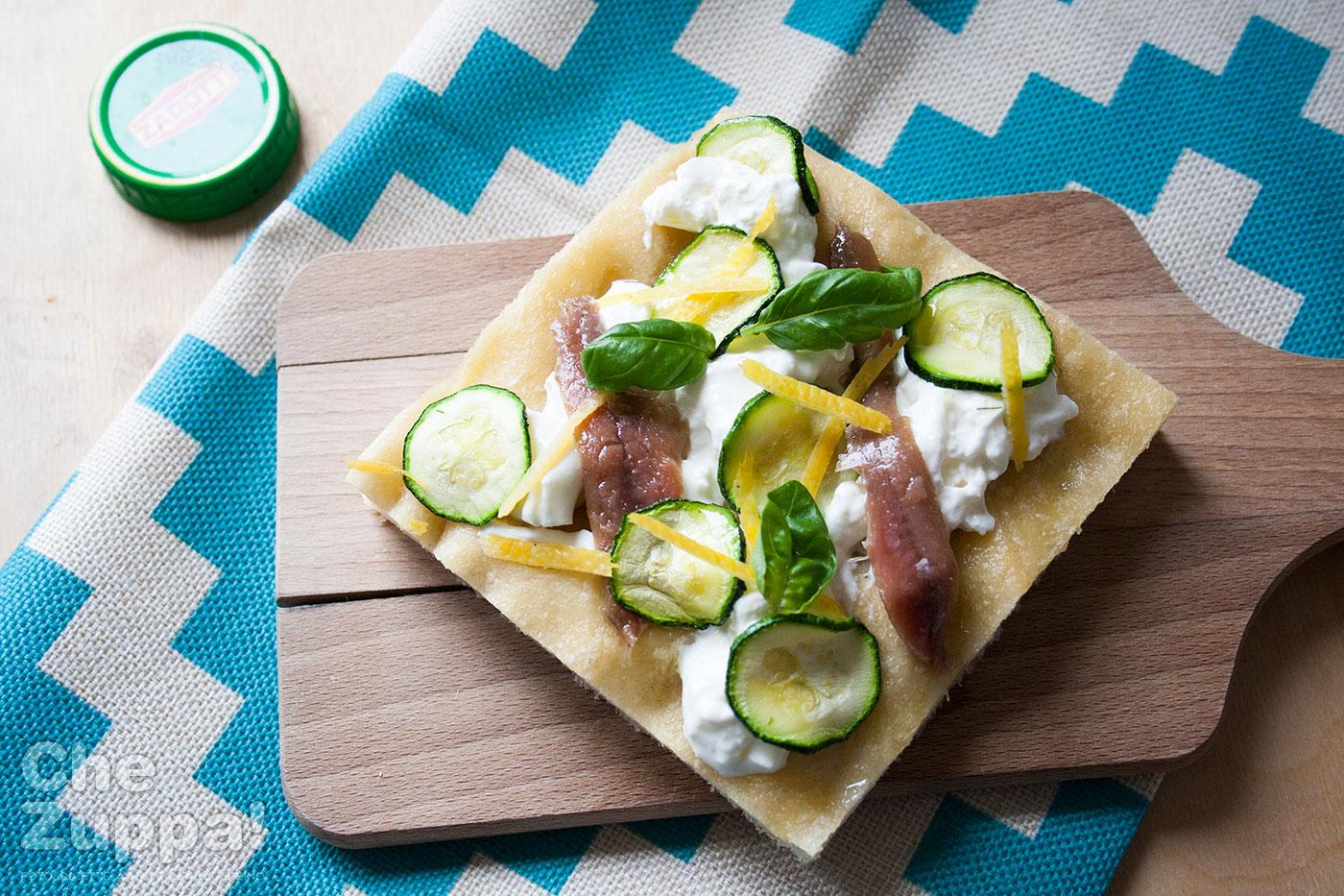 Ricetta pizza focaccia con alici stracciatella e limone con lievito madre