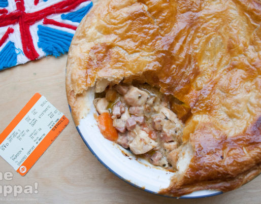 Ricetta chicken ham and mushroom pie