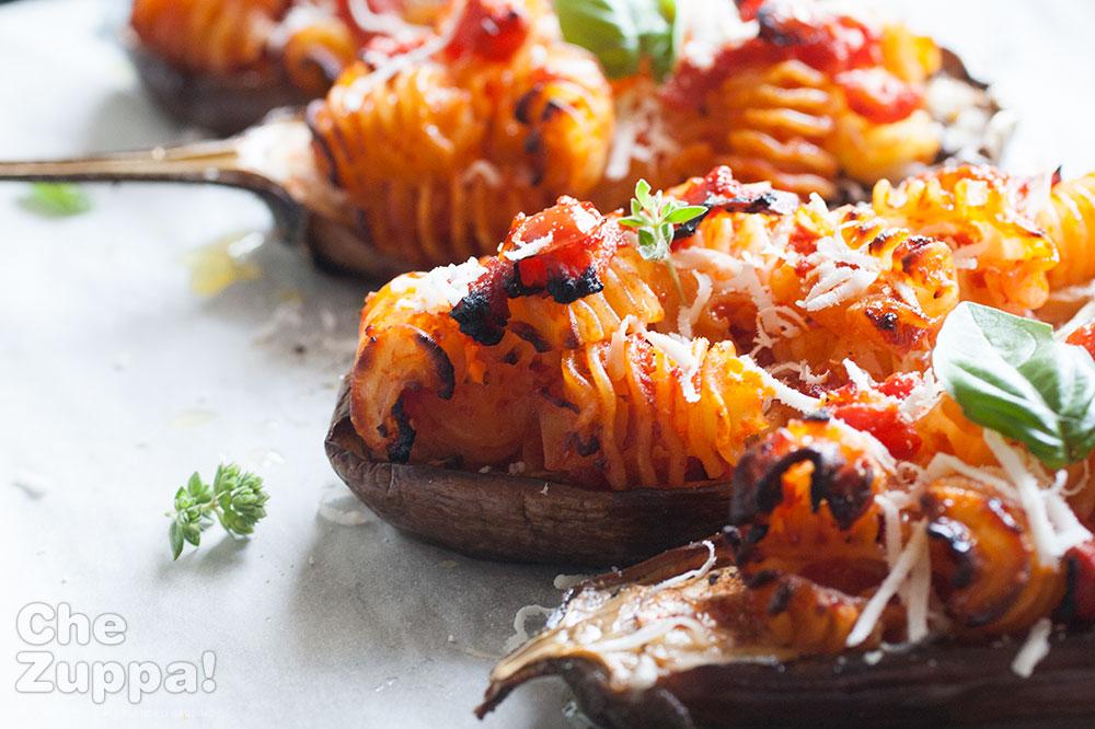 Ricetta melanzane ripiene di pasta