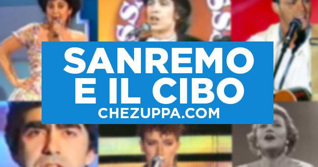 Le canzoni di Sanremo che parlano di cibo e caffè