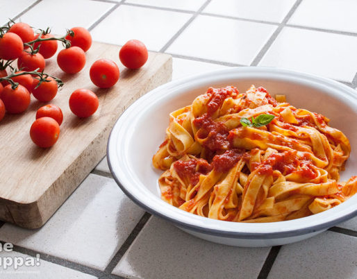 tagliatelle al sugo di pomodorini - Alessandro Gerbino