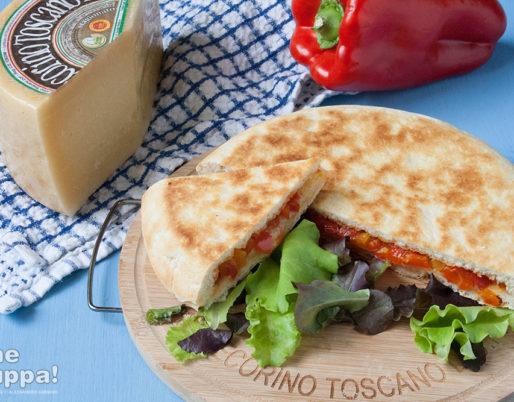 pizza in padella con pecorino toscano dop e peperoni - foto e ricetta di Alessandro Gerbino