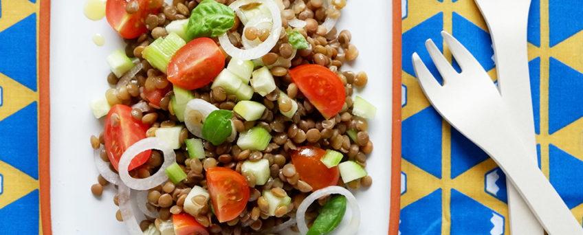 insalata di lenticchie per l'estate