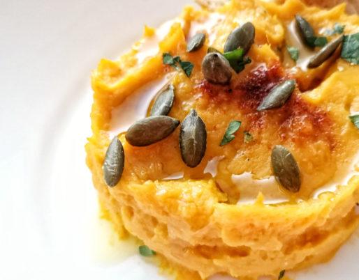 Hummus di zucca, ricetta per antipasto, ricetta per aperitivo