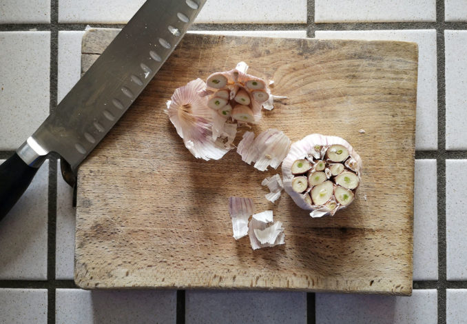 aglio arrostito - ricetta
