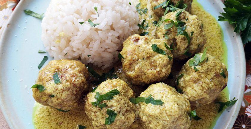Polpette al curry e cocco