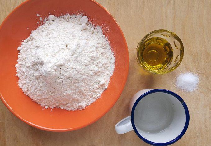 Gli ingredienti per la pasta matta