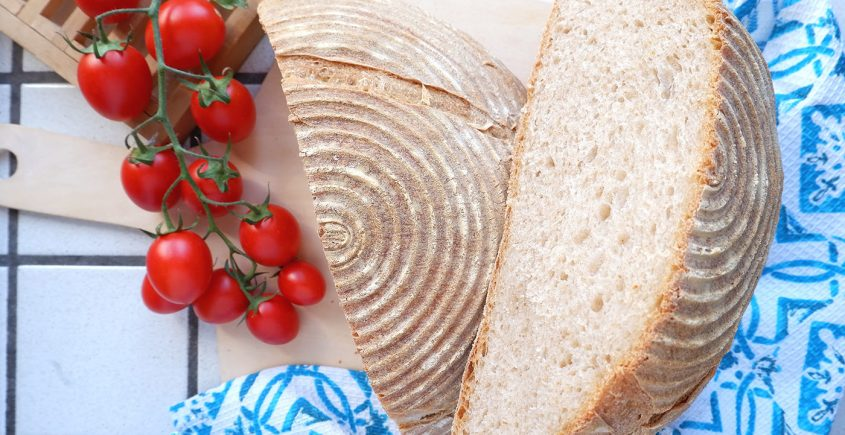 Pane super lievitato con lievito madre
