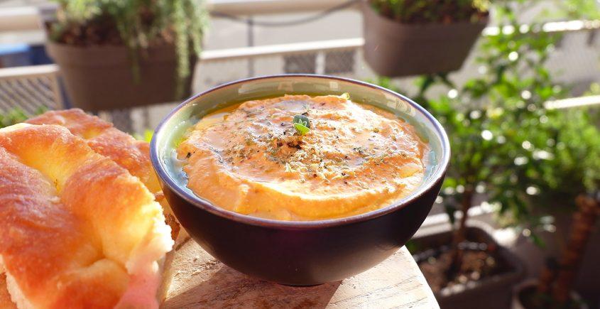 Salsa di peperoni e feta da spalmare - ricette per l'aperitivo